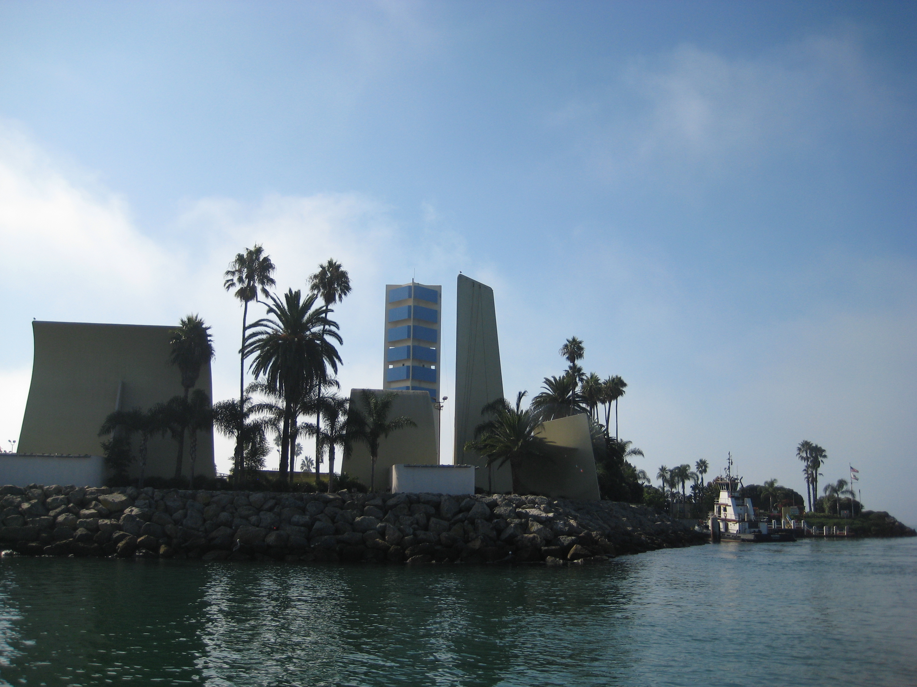 <i>Long Beach Harbor, ruined by the THUMS island development.</i>